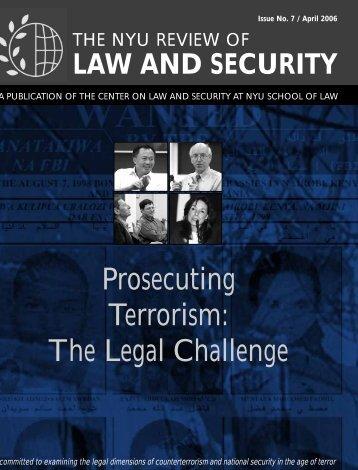 Prosecuting Terrorism The Legal Challenge