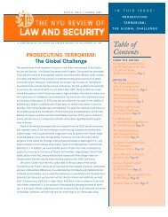 Prosecuting Terrorism - The Center on Law and Security