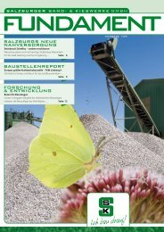 finden Sie die Ausgabe 1/2009 unserer - Salzburger Sand