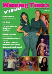 It's Back! - Winners 2000 Fitness Ltd