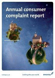 Annual consumer complaint report