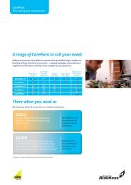 A range of CarePlans to suit your needs There when you need us GOLD SILVER