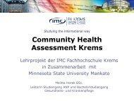 Presentation Horak - IMC University of Applied Sciences Krems ...