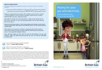 Paying for your gas and electricity