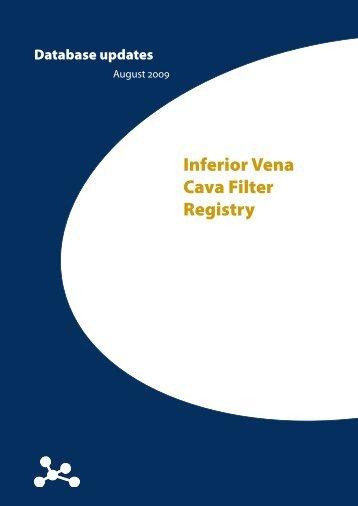 Inferior Vena Cava Filter Registry