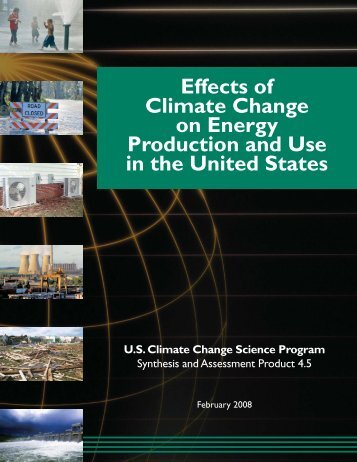 Effects of Climate Change on Energy Production and Use in the ...