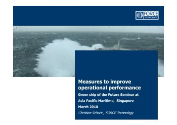 Measures to improve operational performance