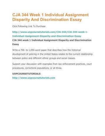 Disparity and discrimination essay introduction