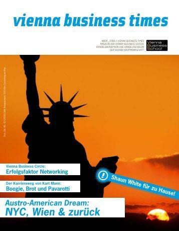 Vienna Business Times Ausgabe 4/2008 - Vienna Business School