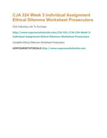 Ethical Dilemma Worksheet Essay Sample