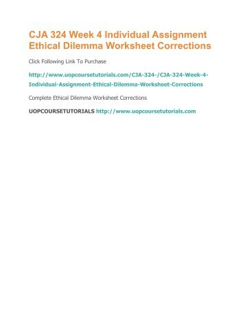 Ethical Dilemma Worksheet Week 4 Term Paper Academic Service
