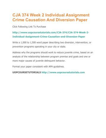 juvenile crime research paper