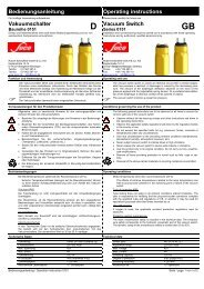 Bedienungsanleitung Operating instructions Vakuumschalter - SUCO