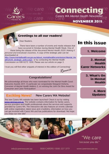 MH Newsletter temp file - Carers WA