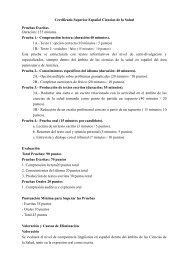 Certificado Superior Español Ciencias de la Salud - Costa de Valencia