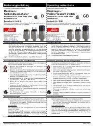 Piston Pressure Switch - SUCO