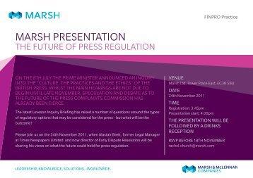 Marsh Presentation