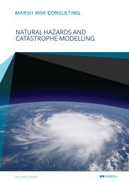 Natural hazards and catastrophe modelling