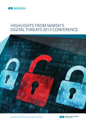 Highlights from Marsh's Digital Threats 2013 Conference