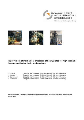 Improvement of mechanical properties of heavy plates for high ...