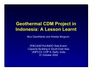Geothermal CDM Project in Indonesia A Lesson Learnt