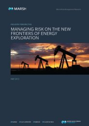 Managing Risk on the New Frontiers of Energy Exploration