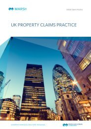UK PROPERTY CLAIMS PRACTICE - Marsh