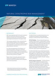 Natural catastrophe risk management