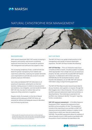 Natural catastrophe risk management