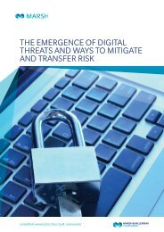THE EMERGENCE OF DIGITAL THREATS AND WAYS TO MITIGATE AND TRANSFER RISK