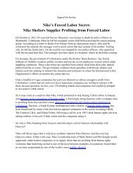 Nike's Forced Labor Secret - Anti-Slavery International
