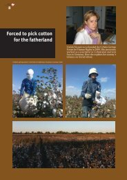 Forced to pick cotton for the fatherland