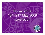Focus 2009 18 -21 May 2009 Liverpool
