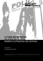 La Traite des Personnes les Droits de l'Homme - Anti-Slavery ...