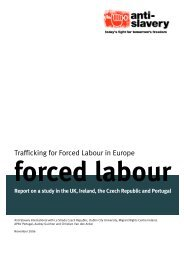 Trafficking for Forced Labour in Europe