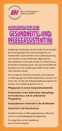 GESUNDHEITS- UND PFLEGEASSISTENT/IN