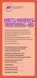 ARBEITS- UND BERUFS- ORIENTIERUNG – ABO