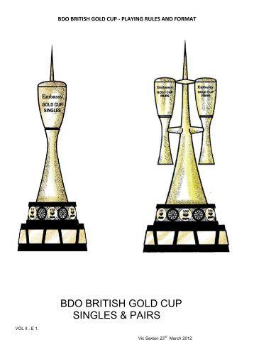 bdo gold cup