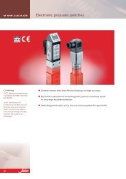 Electronic pressure switches - SUCO