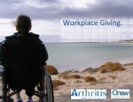 Workplace Giving Brochure - Arthritis NEW SOUTH WALES