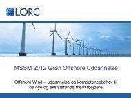 MSSM 2012 Grøn Offshore Uddannelse