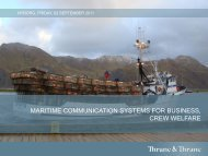 MARITIME COMMUNICATION SYSTEMS FOR BUSINESS CREW WELFARE