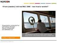 Vi kom (næsten) i mål med MLC 2006 - men hvad er ændret?