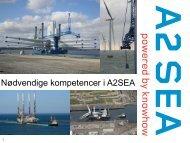 Nødvendige kompetencer i A2SEA