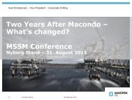 Two Years After Macondo – What's changed? MSSM Conference