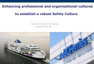 to establish a robust Safety Culture
