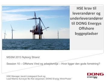 Offshore byggepladser