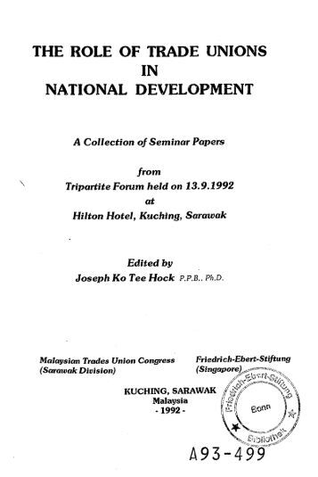 role of trade unions in national Asian academy of management journal, vol 14, no 1, 37–57, january 2009 37 the changing roles of trade unions in india: a case study of national thermal power.