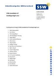 SSWs kandidater til landdagsvalget 2012 - SSW Landesverband