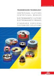 tRAnsmission tEchnoloGy CENTRIFUGAL CLUTCHES - SUCO